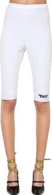 Logo Print Stretch Cycling Shorts