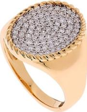 Yvonne Leon Paris , Gold & Diamond Pinky Ring