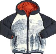 Nice Things Mini , Mountains Printed Nylon Puffer Jacket