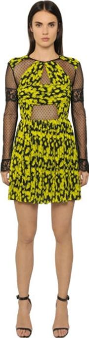 Caterina Gatta , Daisy Printed Georgette & Tulle Dress