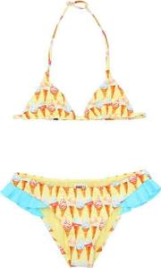 Mc2 Saint Barth , Ice Cream Printed Lycra Bikini