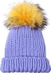 Eugenia Kim , Rain Wool Tricot Hat With Pompom