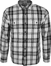 Edwin , Labour Check Flannel Shirt White