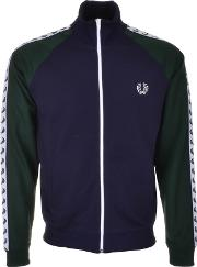 Fred Perry , Colour Block Tape Track Jacket Blue
