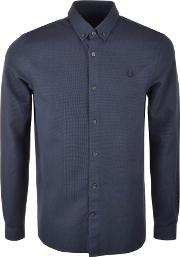 Fred Perry , Waffle Textured Shirt Blue