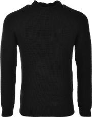 Edwin , Purl Knit Jumper Black