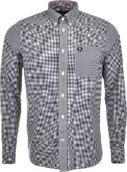 Fred Perry , Classic Gingham Shirt Black