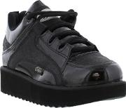 Buffalo , New  1330  1330 4 Womens Black Leather Trainers Ladies...