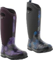 Bogs , Womens Classic Rosey Tall Wellington Boots