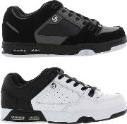 Dvs , Mens Militia Heir Shoes Black Grey Nubuck