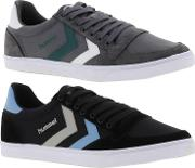 Hummel , Mens Slimmer Stadil Duo Lo Canvas Trainers