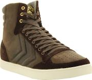 Hummel , Mens Slimmer Stadil Mono Oiled High Trainers