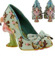 Irregular Choice , Womens Blushing Bird Floral High Heels