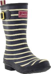 Joules , Womens Molly Welly Wellington Boots Navy Stripe