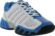 Kswiss , K Swiss Mens Bigshot Light 2.5 Tennis Shoes White Blue Fiery Red