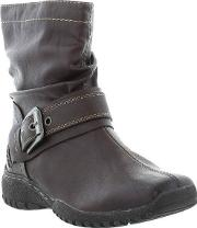 Marco Tozzi , 25491 Ladies Brown Synthetic Leather Ankle Boots Size...