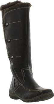 Marco Tozzi , 26691 Ladies Synthetic Leather Black Brown Boots Size...