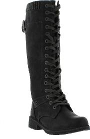 Marco Tozzi , New  25215 Ladies Black Synthetic Leather Boots Size Uk 3 8