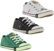 Mustang , Womens 1099 302 Canvas Trainers