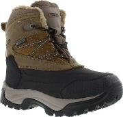 Hitec , Kids Snow Peak 200 Wp Hiking Boots Tan Black