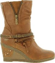 Mustang , Shoes Womens 1083 508 Wedge Ankle Boots
