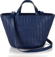 Meli Melo , Rosalia Mini Cross Body Bag Midnight Blue Woven
