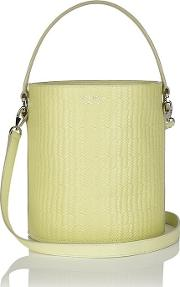 Meli Melo , Santina Bucket Bag Lime Woven