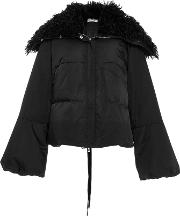 Adeam , Shearling Collar Laced Puffer Jacket