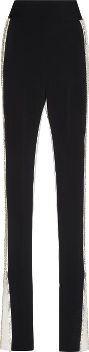 David Koma , Embroidered Side Panel Trousers