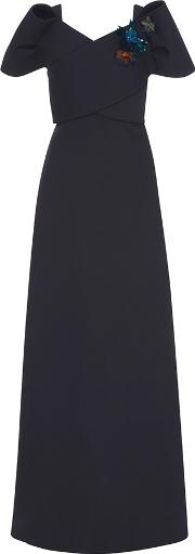 Delpozo , Wool Bow Gown