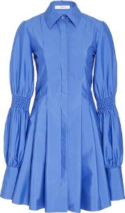 Adeam , Pleated Shirt Dress With Smocking Detail