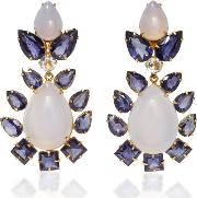 Bounkit , Chalcedony And Clear Quartz Convertible Two-way Earrings