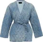 Rivington Quilted Wrap Jacket With Self Tie