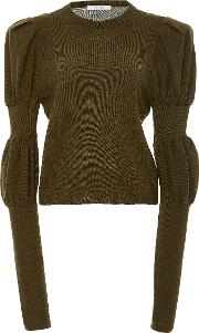 Adeam , Gathered Sleeve Cashmere Top