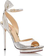 Charlotte Olympia , Silver Ankle Strap Sandals