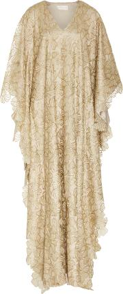 M'o Exclusive Gold Lace Caftan