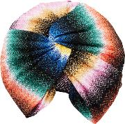 Missoni Mare , Crochet Knit Multicolored Turban
