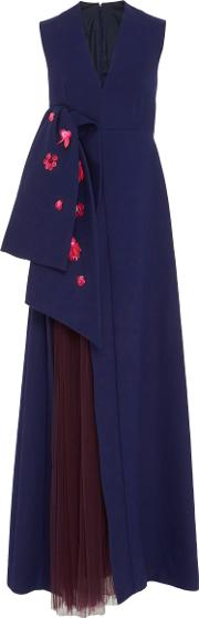 Delpozo , Sleeveless Gown With Front Bow