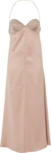 Salvatore Ferragamo , Silk Satin Bustier Dress