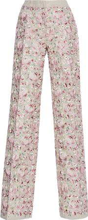Luisa Beccaria , Linen Embroidered Pants