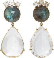 Bounkit , Labradorite And Clear Quartz Two-way Earrings
