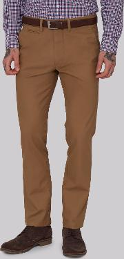 Moss 1851 , Tailored Fit Tobacco Chino