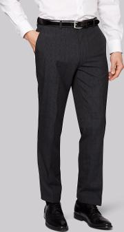 Moss Esq , Uire Grey Check Trousers