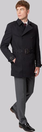 French Connection , Slim Fit Navy Raincoat
