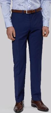 Moss 1851 , Performance Tailored Fit Bright Blue Trousers