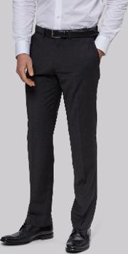 Moss 1851 , Performance Tailored Fit Charcoal Trousers