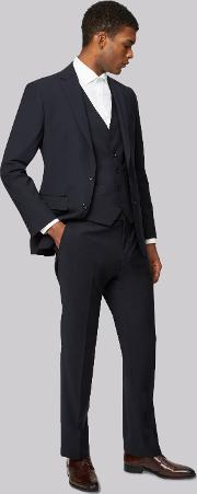 Moss 1851 , Performance Tailored Fit Navy Jacket