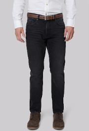 Moss 1851 , Tailored Fit Black Denim Jeans