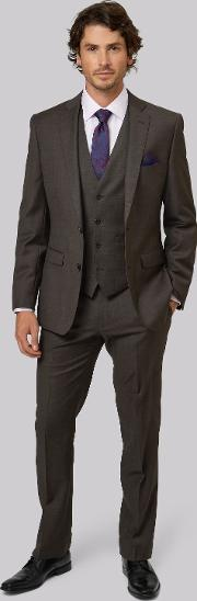 Moss 1851 , Tailored Fit Brown Jacket