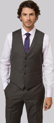Moss 1851 , Tailored Fit Brown Waistcoat